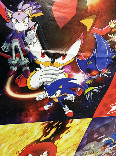 Sonic Super Special: Posters in Darkspeeds Room 06 by darkspeeds
