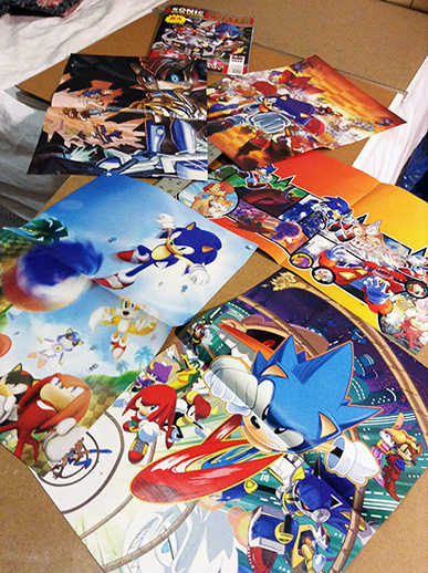 Sonic Super Special: Posters in Darkspeeds Room 01 by darkspeeds