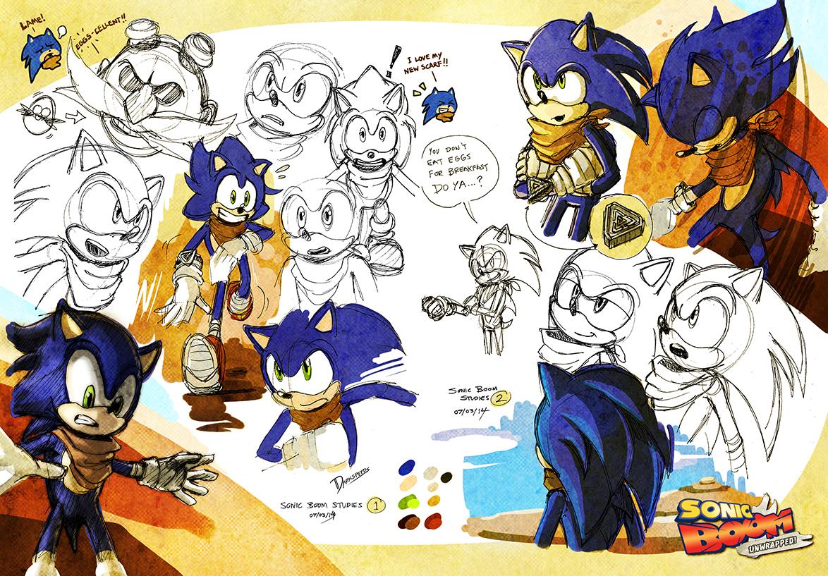 Sonic Boom Unwrapped Studies Sonic The Desert By Darkspeeds On Deviantart