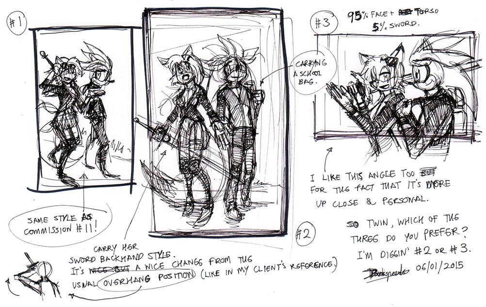 Twin's commission thumbnails DarkspeedsJAN2015 by darkspeeds