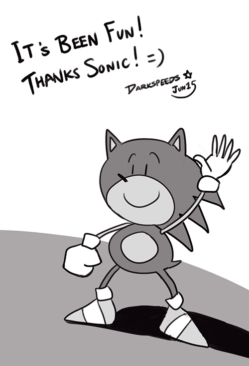 Thanks Sonic by darkspeeds