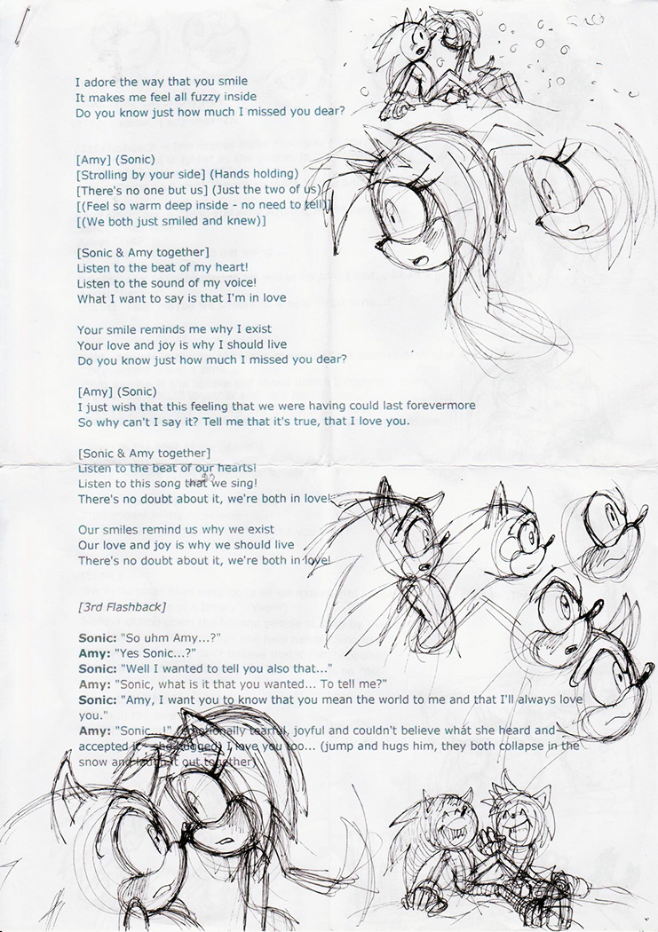 Sonic and Amy musical - page 02 by Darkspeeds by darkspeeds