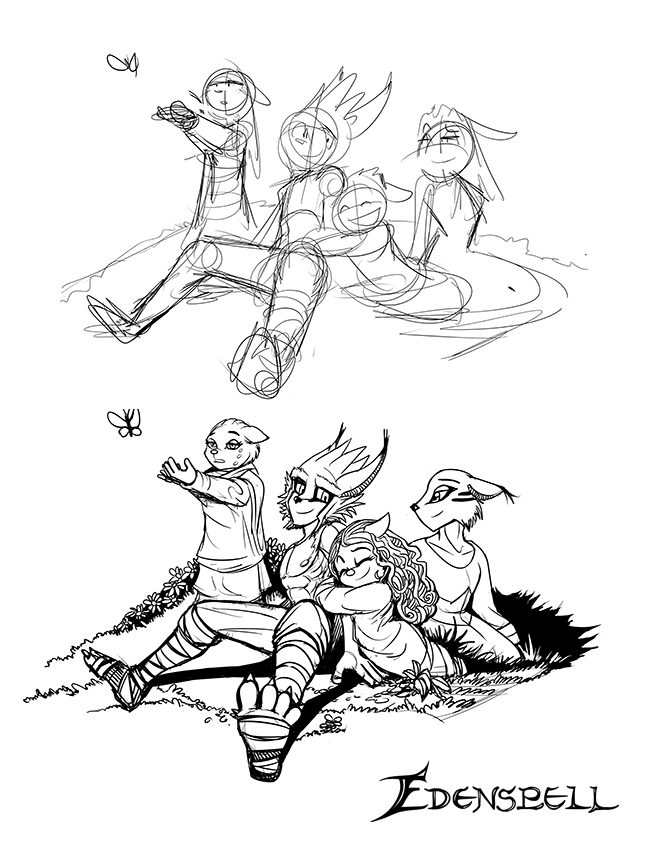 Before and after Edenspell Ashworth and his sister by darkspeeds