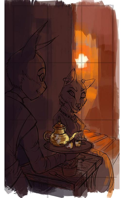 Drinking Tea05 by darkspeeds