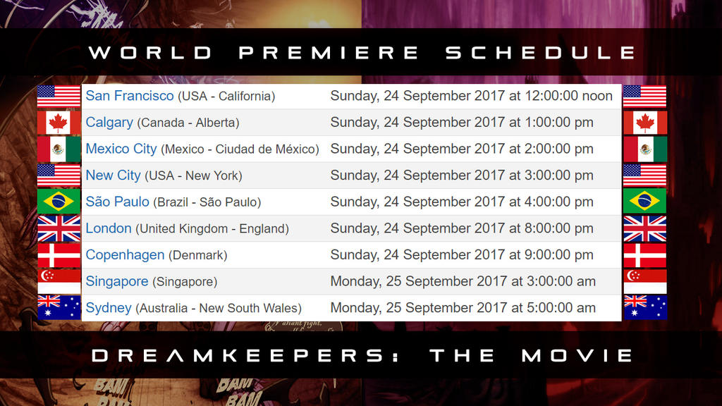 DK The Movieschedule by darkspeeds