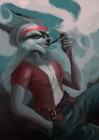 Pipe Smoking by darkspeeds