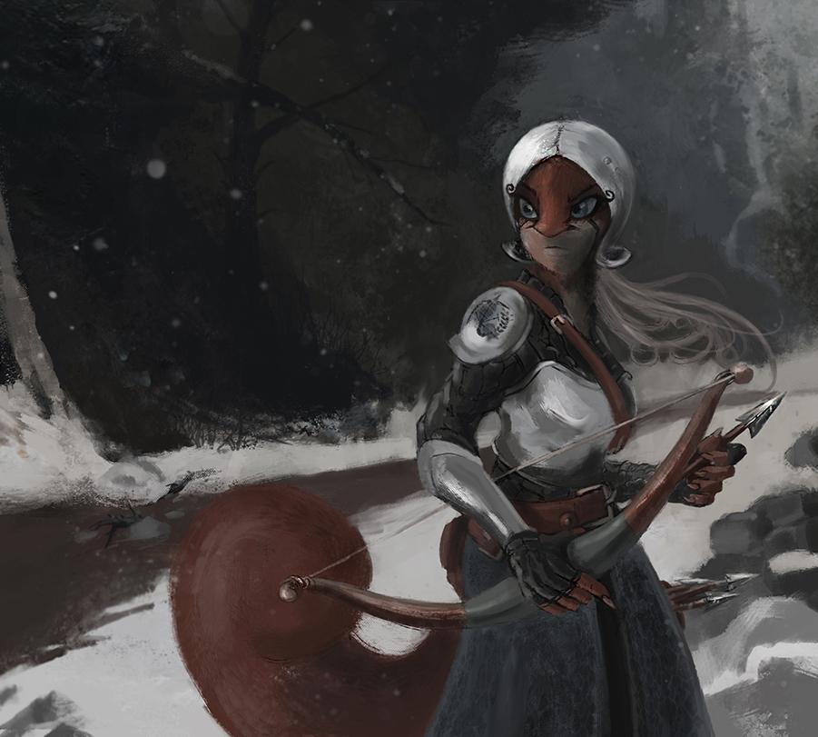 Studious In the Snow by darkspeeds