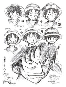 One Piece-Expression of Luffy