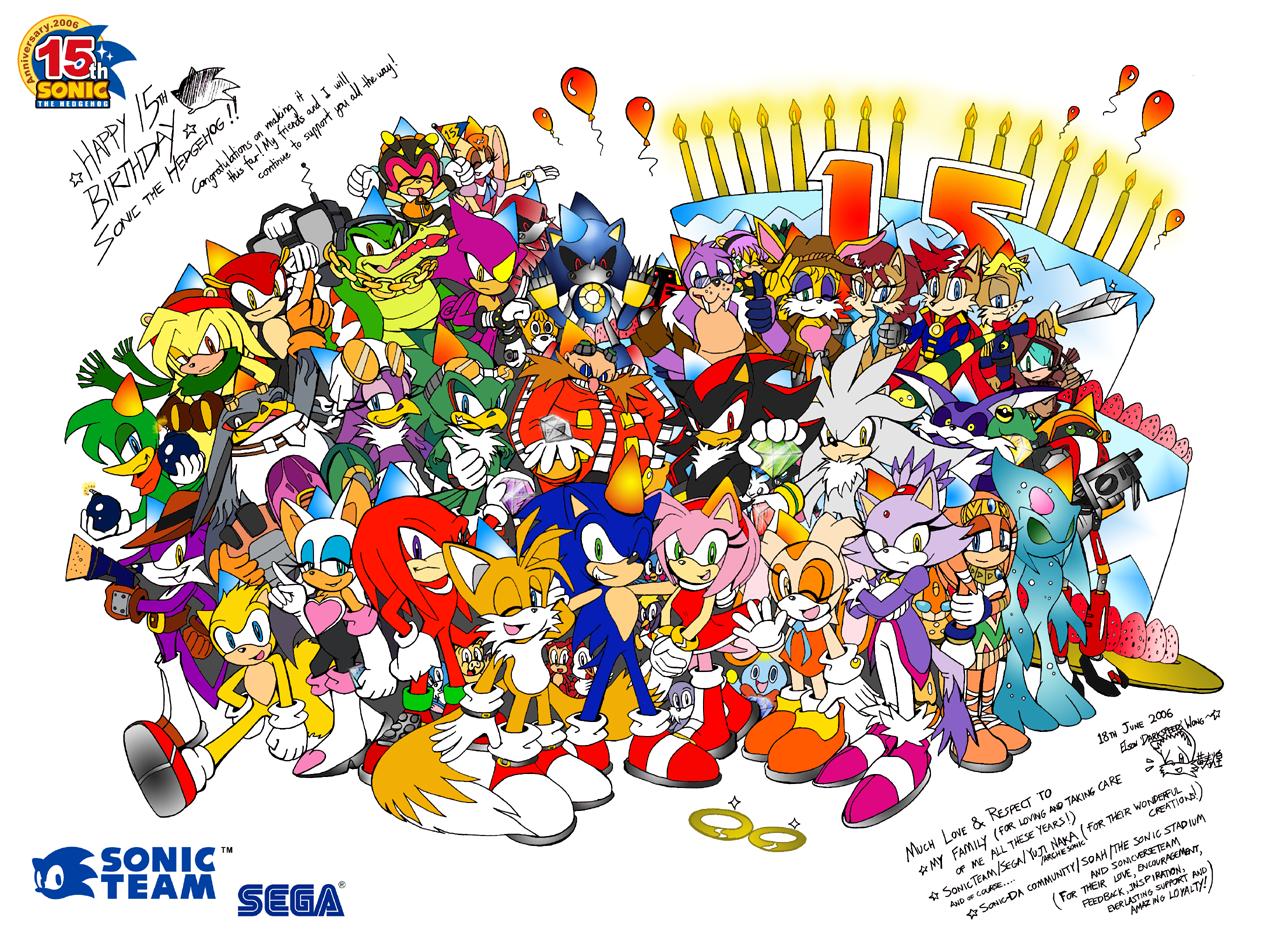 Sonic 15th Anniversary by darkspeeds
