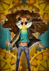 [Collab]RYM's Book's Cover- L'ascenseur des mondes by AriaPN