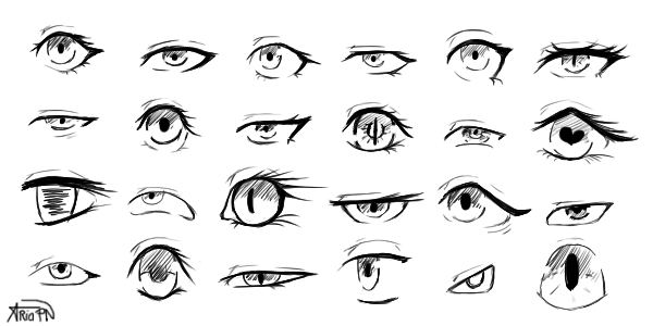 Practice - Eyes #1 by AriaPN