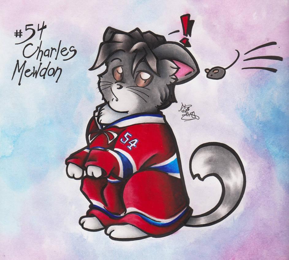 Meowtreal Canadiens : #54 Charles Mewdon by calicokatt