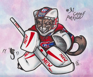 Meowntreal Canadiens - #31 Carey Purrice by calicokatt