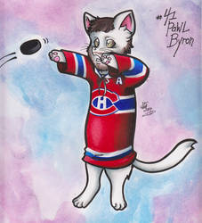 Meowtreal Canadiens - #41 Pawl Byron by calicokatt