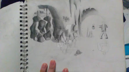Unfinished Fan Art: A Cave In Time