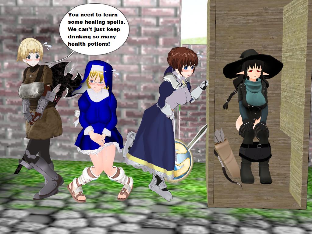Desperate girl pee story