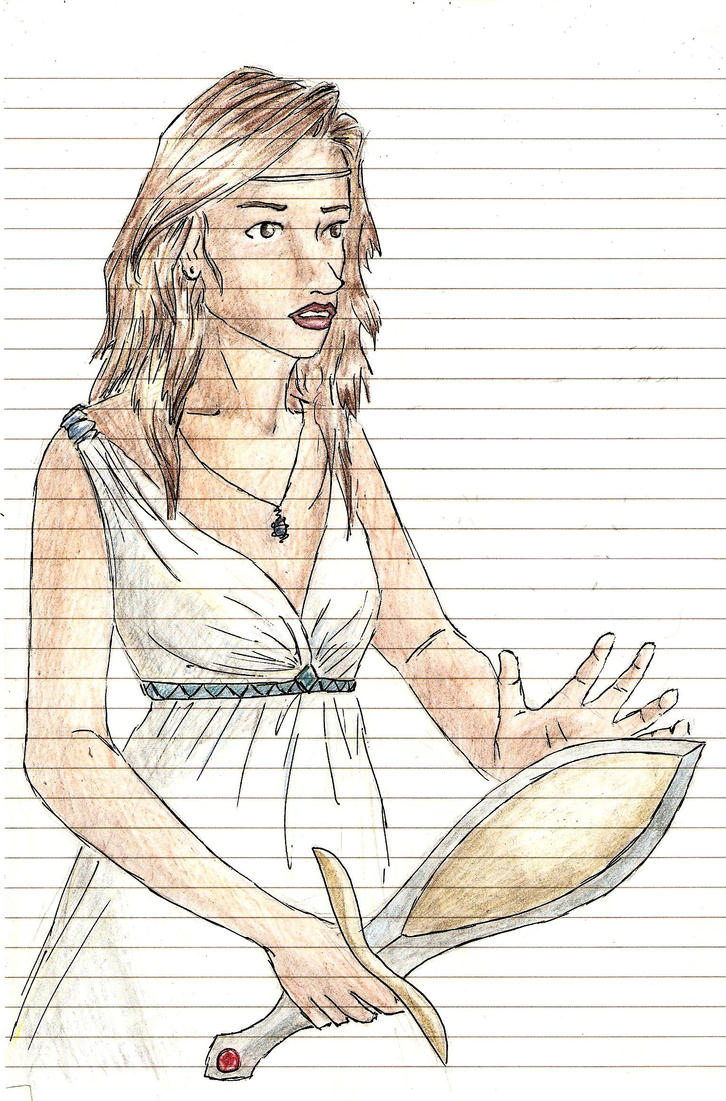 Piper McLean by stravaganzette on deviantART Katoptris Dagger