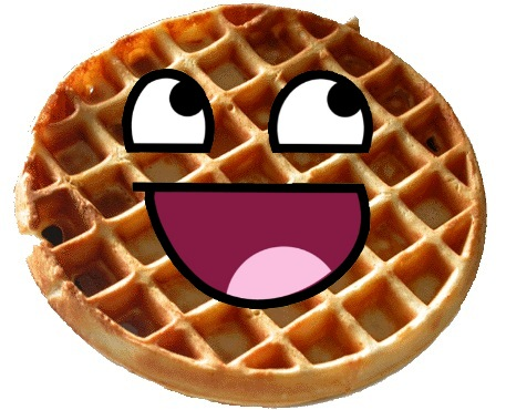 What are the comic characters like? - Bob the Pig.com Cartoon Waffle With Face