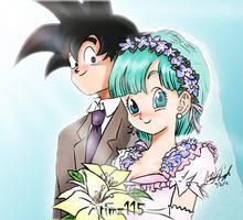 Goku x Bulma Marriage by timz115