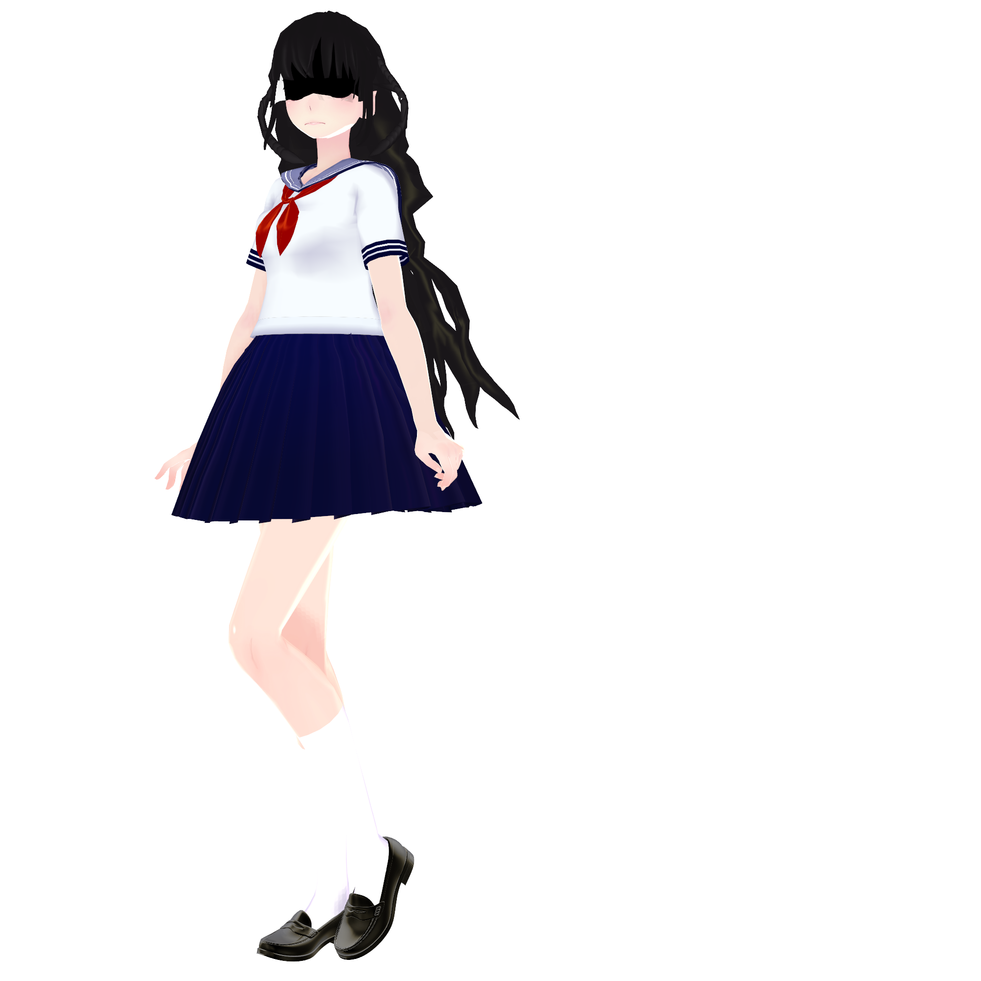 Mmd yandere simulator computer girl download by for Deviantart vrchat avatars