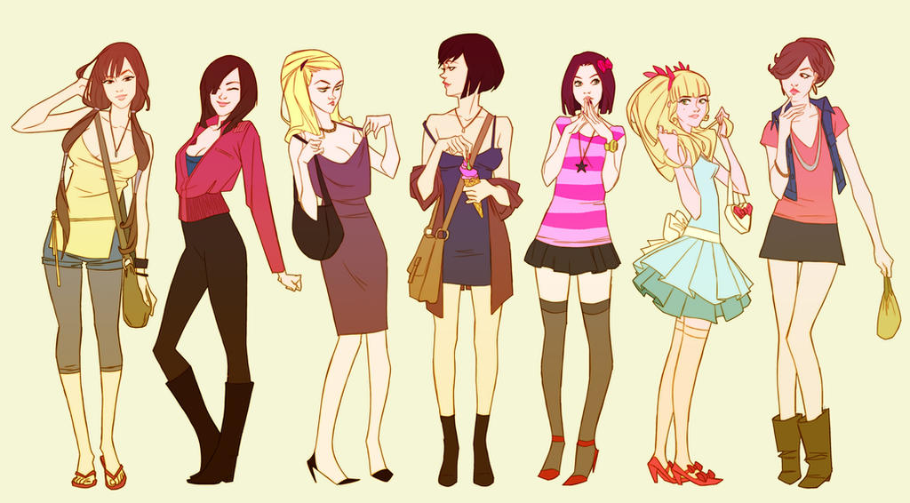 Fashion girls 1 by AmeliaVidal