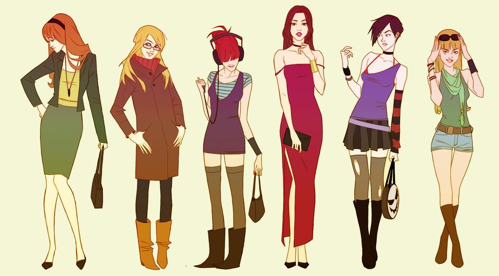 Fashion girls 2 by AmeliaVidal