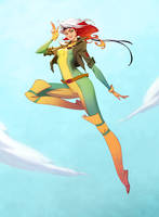 Rogue from X-Men 92 cartoon by AmeliaVidal
