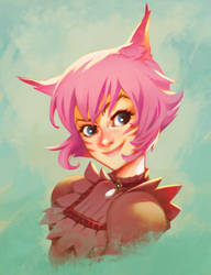 Quinn from FFXIV by AmeliaVidal