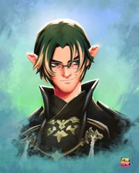 Lucan portrait Final Fantasy XIV by AmeliaVidal