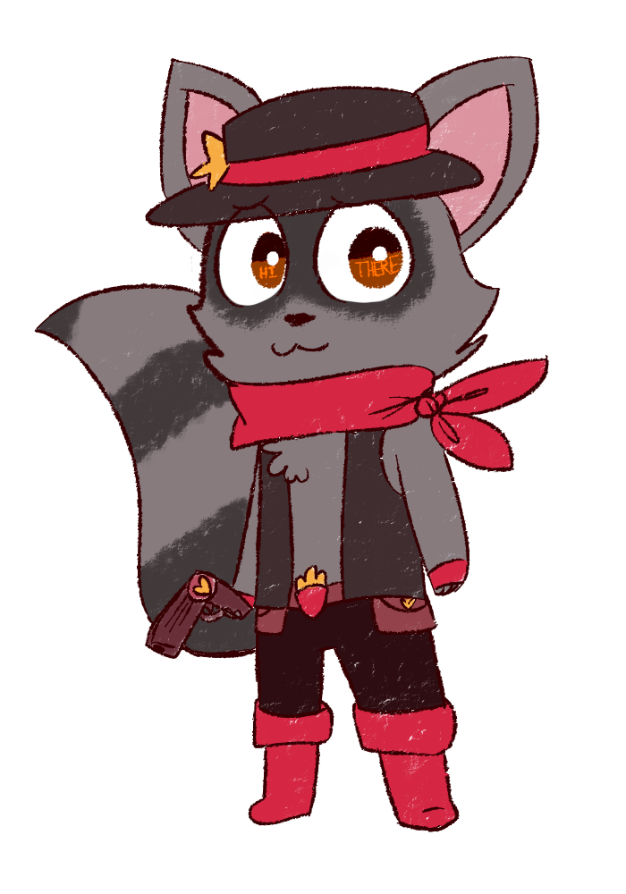 Ray The Cute Bandit Coon by Pansearific