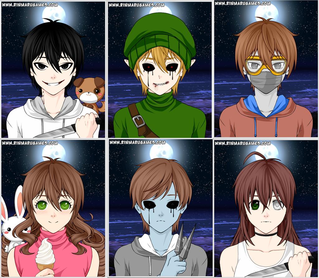 Anime Character 5 : Creepypasta avatar creator related keywords