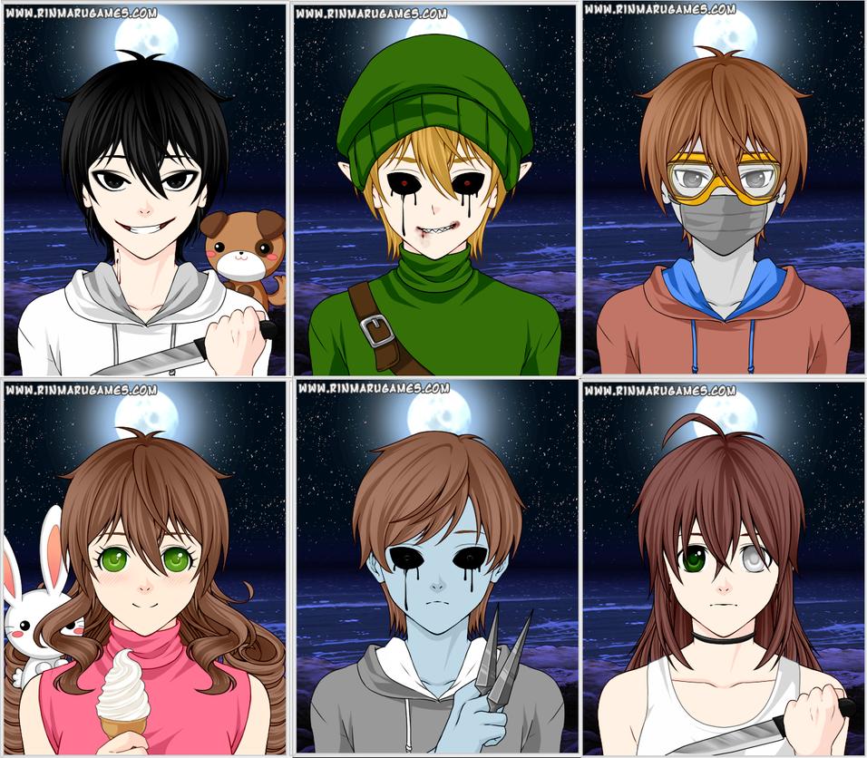 Creepypasta Characters   Bansuan