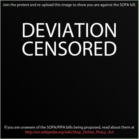 STOP SOPA AND PIPA by La-gato-negro