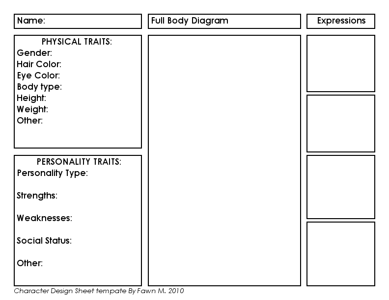 Character Design Template by AngelicCarrot on DeviantArt