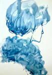 Blue portrait by Booksdust