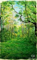 Gouache forest by Booksdust