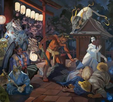 Night of the Yokai by gavi-gavi