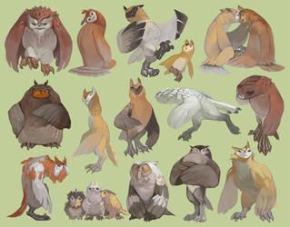 Owls by gavi-gavi