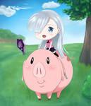 Hawk-chan and Elizabeth by IchigoChoco-o3o