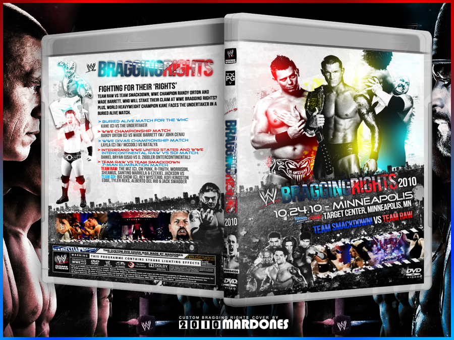 WWE Bragging Rights 2010 cover by NikoMardones
