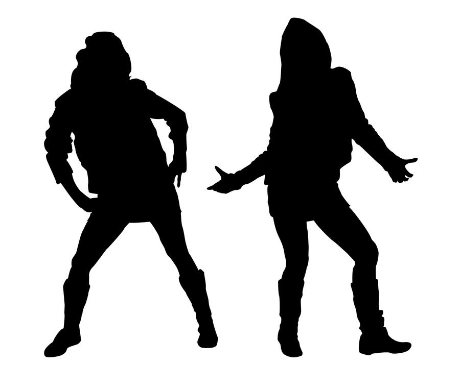 Hip Hop Girls Silhouette 1 by kkplum