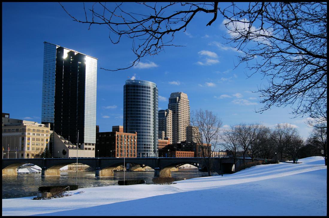 Grand Rapids Winter By Gaelic On Deviantart