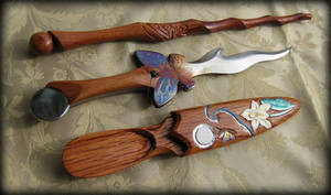 Butterfly Athame and Wand Set