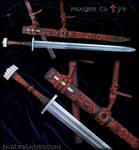 Prayer to Tyr: Two handed Viking Era Sword.