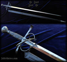 Rapier: Be Just / Just Be  by Fable Blades by Fableblades