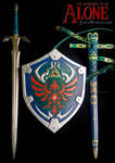 Link's Master Sword and Hylian Shield from LoZ