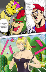 I accept (reject) my humanity Mario (JOJO) by PuallaMaggy