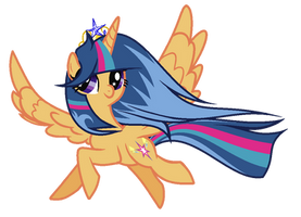 MLP Silver Sentry Princess Of Happiness by GalaxySwirlsYT
