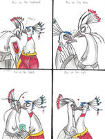 Kiss Meme: ShenXNyu Wu by GrimmSkitz