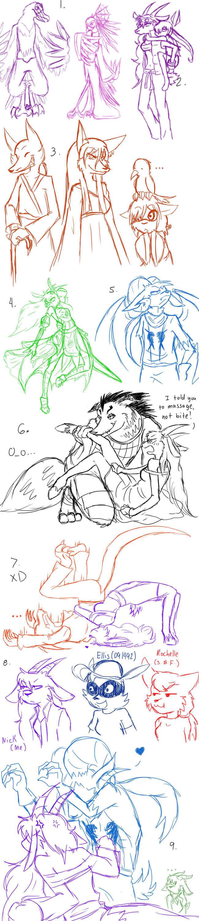 Sketchdump 5 by SkitzOpheliac